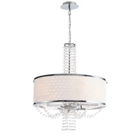 Crystorama Allure 5 Light Chandelier in Chrome, Hand Cut 9805-CH