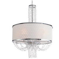 Crystorama 9806-CH Allure 6 Light 24 inch Chrome Chandelier Ceiling Light in Chrome (CH)
