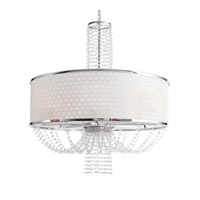 Crystorama 9808-CH Allure 8 Light 30 inch Chrome Chandelier Ceiling Light in Hand Cut, Chrome (CH)