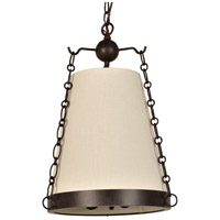 Crystorama 9813-CZ Ellis 3 Light 14 inch Charcoal Bronze Mini Chandelier Ceiling Light