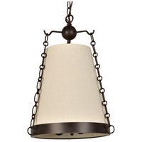 Crystorama 9813-CZ Ellis 3 Light 14 inch Charcoal Bronze Mini Chandelier Ceiling Light
