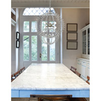 Crystorama Grace 6 Light Chandelier in Silver Leaf 9825-SL photo thumbnail