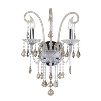 Crystorama Simone 2 Light Wall Sconce in Polished Chrome 9832-CH-CG