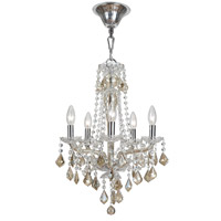 Crystorama Simone 5 Light Mini Chandelier in Polished Chrome 9835-CH-CG