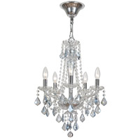 Crystorama Simone 5 Light Chandelier in Polished Chrome with Hand Cut Crystals 9835-CH-IB