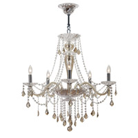 Crystorama Simone 5 Light Chandelier in Polished Chrome with Hand Cut Crystals 9836-CH-CG