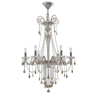 Crystorama Simone 6 Light Chandelier in Polished Chrome with Hand Cut Crystals 9838-CH-CG