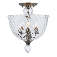 Crystorama Harper 3 Light Semi-Flush Mount in Polished Chrome 9843-CH-CL