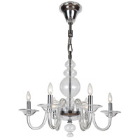 Crystorama Harper 6 Light Chandelier in Polished Chrome, Clear Crystal 9846-CH-CL