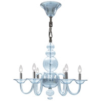 Crystorama Harper 6 Light Chandelier in Polished Chrome 9846-CH-IB