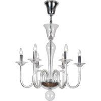 Crystorama Pablo 6 Light Chandelier in Polished Chrome 9906-CH-CL
