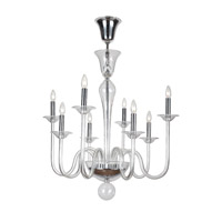 Crystorama Pablo 8 Light Chandelier in Polished Chrome 9908-CH-CL