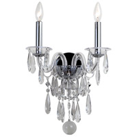 Crystorama 9912-CH-CL-MWP Barrymore 2 Light 12 inch Polished Chrome Wall Sconce Wall Light