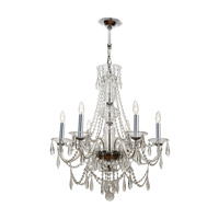 Crystorama Barrymore 6 Light Chandelier in Polished Chrome 9916-CH-CL-MWP