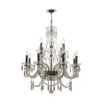 Crystorama Barrymore 12 Light Chandelier in Polished Chrome, Clear Crystal, Hand Cut 9919-CH-CL-MWP