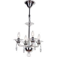 Crystorama Stella 4 Light Mini Chandelier in Polished Chrome 9924-CH-CL-S
