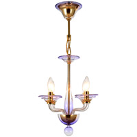 Crystorama Stella 4 Light Chandelier in Gold 9924-GD-AM