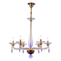 Crystorama Stella 6 Light Chandelier in Gold 9926-GD-AM-BVS