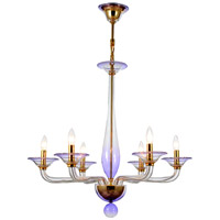 Crystorama Stella 6 Light Chandelier in Gold 9926-GD-AM