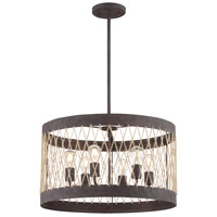 Crystorama ADR-A5026-FB Anders 6 Light 23 inch Forged Bronze Chandelier Ceiling Light
