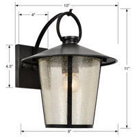 Crystorama AND-9201-SD-MK Andover 1 Light 11 inch Matte Black Outdoor Wall Mount alternative photo thumbnail