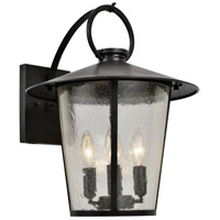 Crystorama AND-9202-SD-MK Andover 4 Light 17 inch Matte Black Outdoor Wall Mount