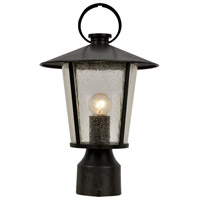 Crystorama AND-9207-SD-MK Andover 1 Light 15 inch Matte Black Outdoor Lantern Post