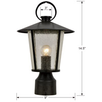 Crystorama AND-9207-SD-MK Andover 1 Light 15 inch Matte Black Outdoor Lantern Post alternative photo thumbnail