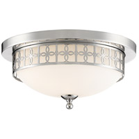 Crystorama ANN-2103-PN Anniversary 2 Light 14 inch Polished Nickel Flush Mount Ceiling Light