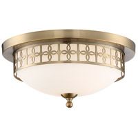 Crystorama ANN-2103-VG Anniversary 2 Light 14 inch Vibrant Gold Flush Mount Ceiling Light