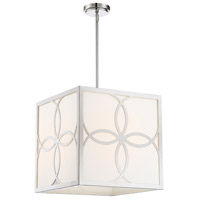 Crystorama ANN-2104-PN Anniversary 4 Light 16 inch Polished Nickel Chandelier Ceiling Light