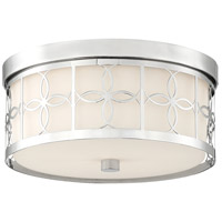 Crystorama ANN-2105-PN Anniversary 2 Light 14 inch Polished Nickel Flush Mount Ceiling Light