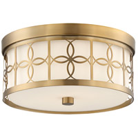 Crystorama ANN-2105-VG Anniversary 2 Light 14 inch Vibrant Gold Flush Mount Ceiling Light in Vibrant Gold (VG)