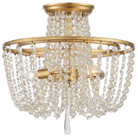 Crystorama ARC-1900-GA-CL-MWP Arcadia 3 Light 15 inch Antique Gold Flush Mount Ceiling Light