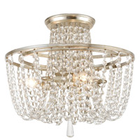 Crystorama ARC-1900-SA-CL-MWP Arcadia 3 Light 15 inch Antique Silver Semi Flush Mount Ceiling Light