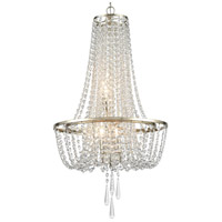 Crystorama ARC-1907-SA-CL-MWP Arcadia 4 Light 18 inch Antique Silver Chandelier Ceiling Light