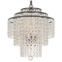 Crystorama ARI-304-DB-CL-MWP Arielle 3 Light 18 inch Dark Bronze Chandelier Ceiling Light