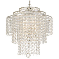 Crystorama ARI-304-SA-CL-MWP Arielle 3 Light 18 inch Silver Chandelier Ceiling Light
