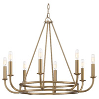 Crystorama BAI-A2108-AG Bailey 8 Light 28 inch Aged Brass Chandelier Ceiling Light
