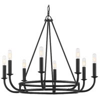 Crystorama BAI-A2108-MK Bailey 8 Light 28 inch Matte Black Chandelier Ceiling Light