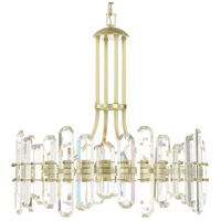 Crystorama BOL-8888-AG Bolton 8 Light 25 inch Aged Brass Chandelier Ceiling Light