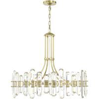 Crystorama BOL-8889-AG Bolton 12 Light 31 inch Aged Brass Chandelier Ceiling Light