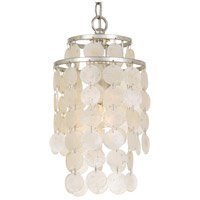 Crystorama BRI-3000-SA Brielle 1 Light 7 inch Antique Silver Mini Chandelier Ceiling Light
