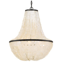 Crystorama BRI-3006-DB Brielle 6 Light 18 inch Dark Bronze Chandelier Ceiling Light