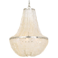 Crystorama BRI-3006-SA Brielle 6 Light 18 inch Antique Silver Chandelier Ceiling Light