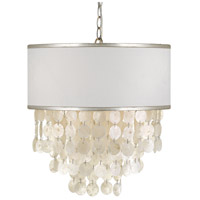 Brielle 3 Light 18 inch Antique Silver Chandelier Ceiling Light