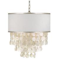 Crystorama BRI-3007-SA Brielle 3 Light 18 inch Antique Silver Chandelier Ceiling Light