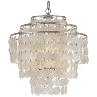 Crystorama BRI-3008-SA Brielle 4 Light 18 inch Antique Silver Chandelier Ceiling Light