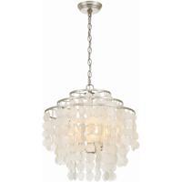 Crystorama BRI-3008-SA Brielle 4 Light 18 inch Antique Silver Chandelier Ceiling Light