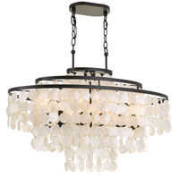 Crystorama BRI-3009-DB Brielle 6 Light 36 inch Dark Bronze Chandelier Ceiling Light